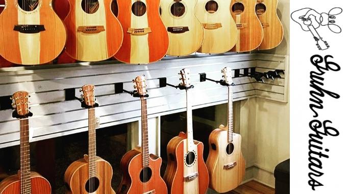 Cole Clark at Gruhn Guitars, Nashville.
