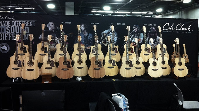 Cole Clark at NAMM 2014